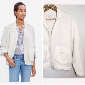 Madewell League Cargo Jacket in White